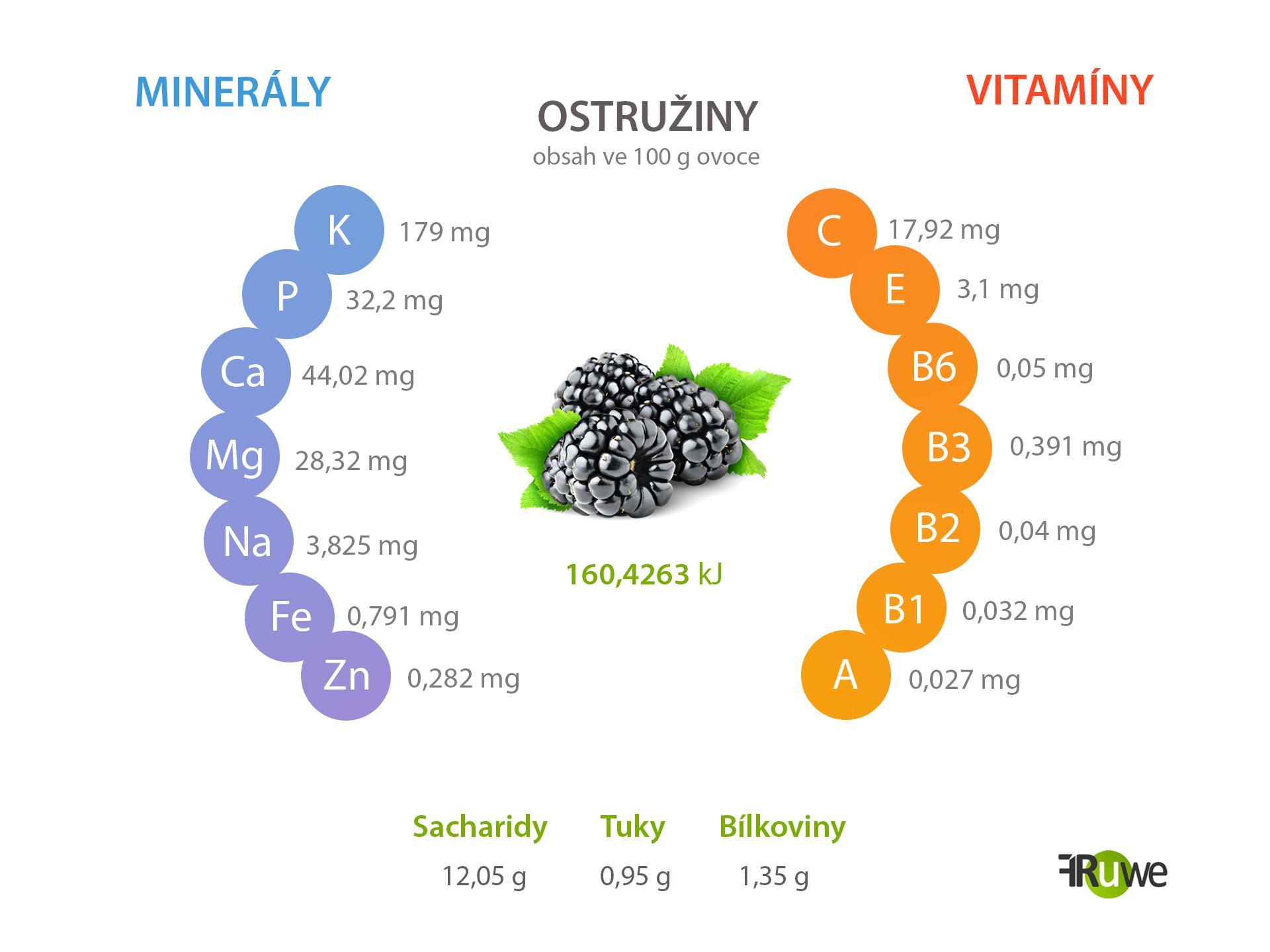 Nutriční hodnoty ostružiny